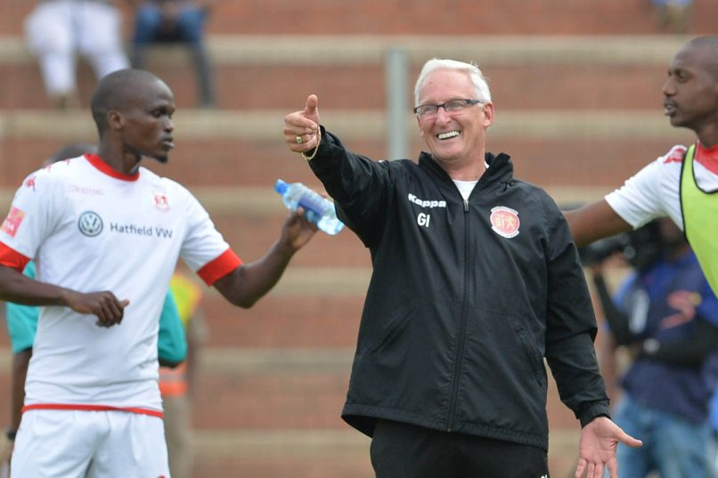 Gordon Igesund during the Absa Premiership match between Highlands Park and Maritzburg United at Makhulong Stadium on March 19, 2017 in Johannesburg, South Africa. (Photo by Lefty Shivambu/Gallo Images)