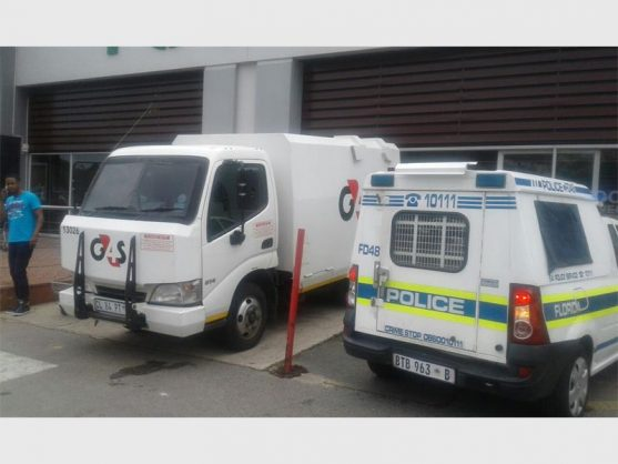 The G4S vehicle that was involved in the heist. Photos: Supplied.