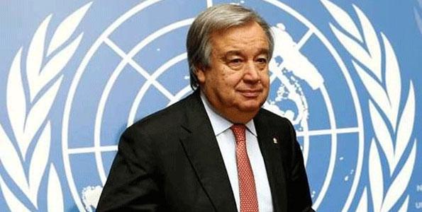 The United Nations Secretary-General Antonio Guterres.