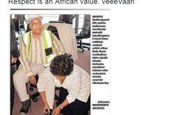 PIC: 'Dudu Myeni' kneels at Zuma's feet