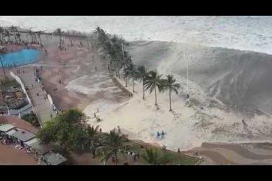 WATCH: Durban 'mini tsunami' waves batter beachfront | The ...
