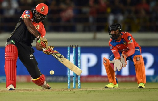 Chris Gayle at his brutal best. Photo: Indranil Mukherjee/AFP.