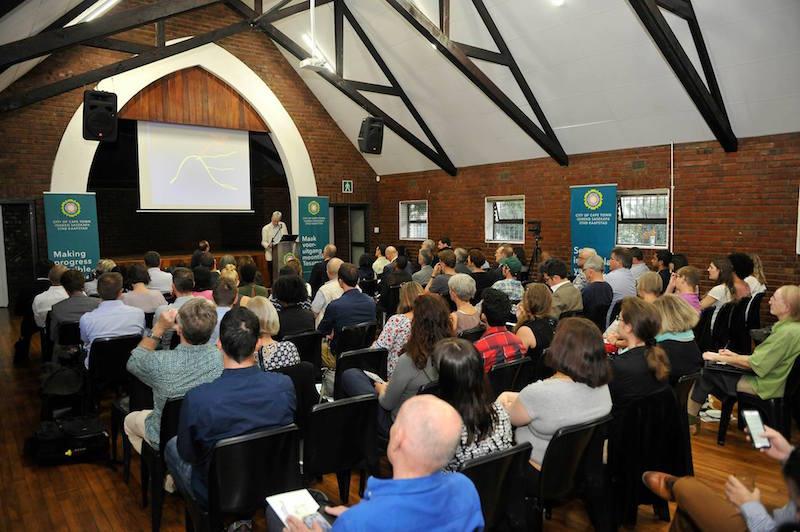 Patricia de Lille addresses the Cape Town Climate Change Coalition meeting. Picture: Patricia de Lille's public Facebook page