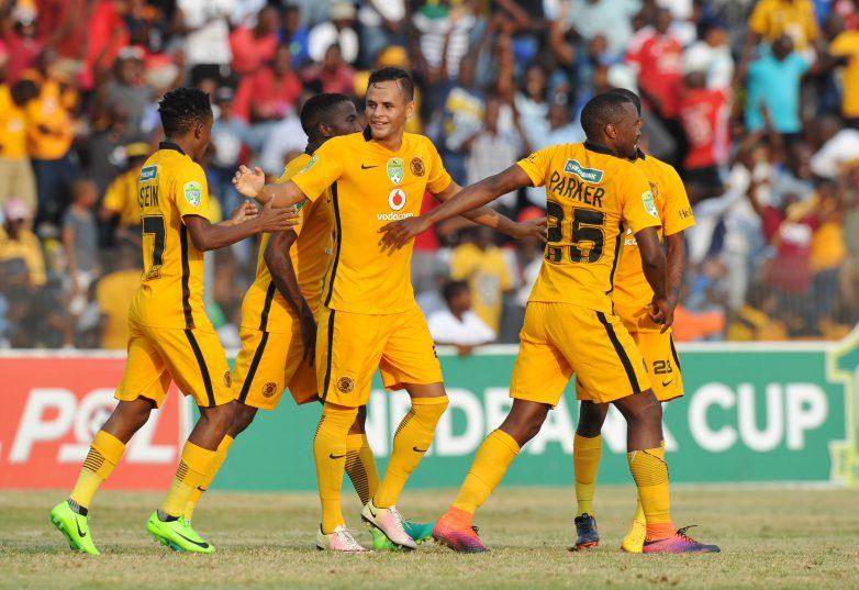 Gustavo Paez of Kaizer Chiefs celebrates goal with teammates (Muzi Ntombela/BackpagePix)