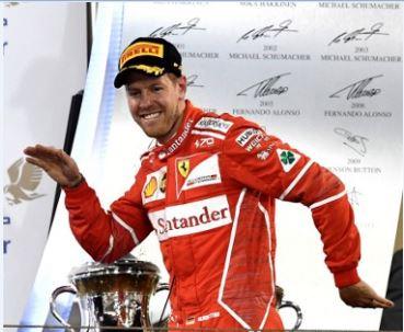 Sebastian Vettel ruled in Barhain. Photo: Andrej Isakovic/AFP.