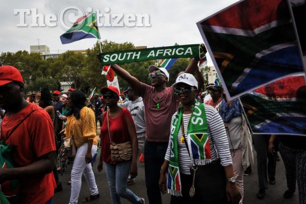 Protesters marching from Church Square to the Union  building calling for President Jacob Zuma to step down, 12 April 2017, Pretoria. Picture: Jacques Nelles