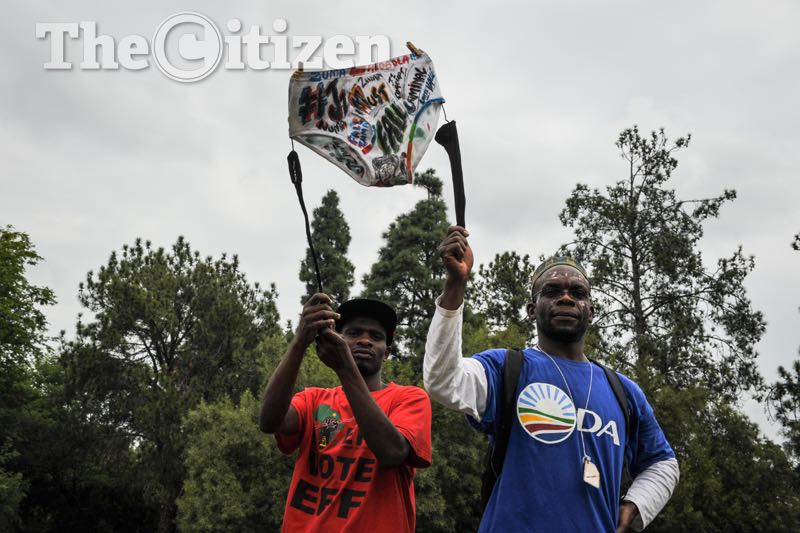 Protesters marching from Church Square to the Union Buildings calling for President Jacob Zuma to step down, 12 April 2017, Pretoria. Picture: Jacques Nelles