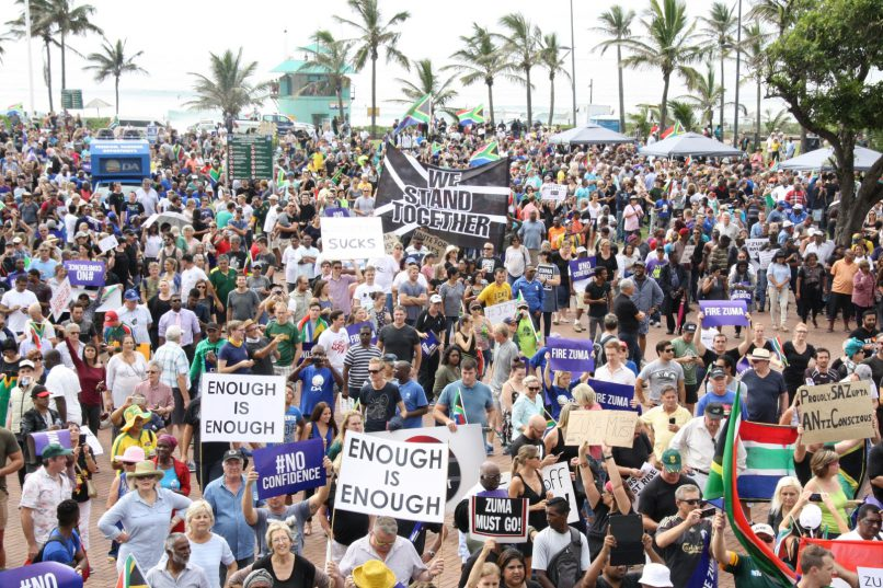 Protesters march in Durban. Picture: Northglen News