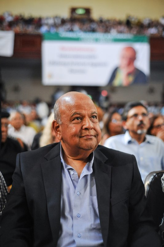 Now former Finance Minister Pravin Gordhan is seen at the City Hall during a memorial service held for Kathrada, 1 April 2017, Johannesburg. Picture: Jacques Nelles