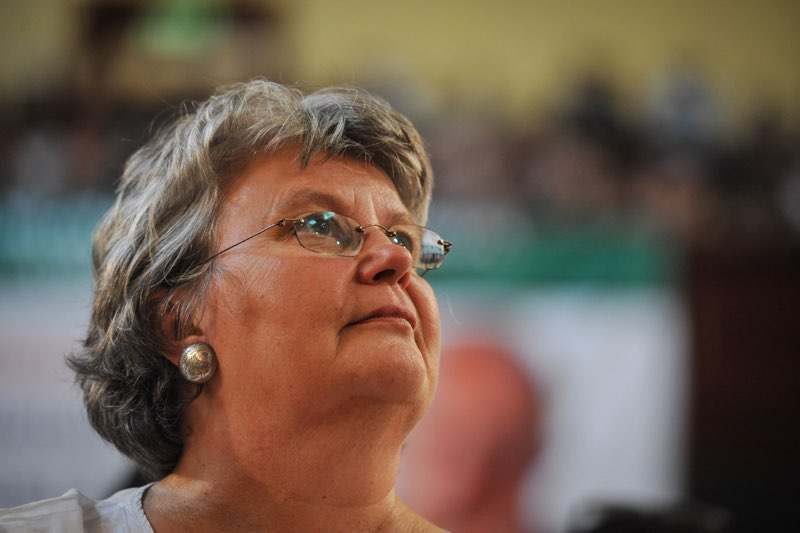 Barbara Hogan wife of the late Ahmed Kathrada is seen at the City Hall during a memorial service held for Kathrada, 1 April 2017, Johannesburg. Picture: Jacques Nelles