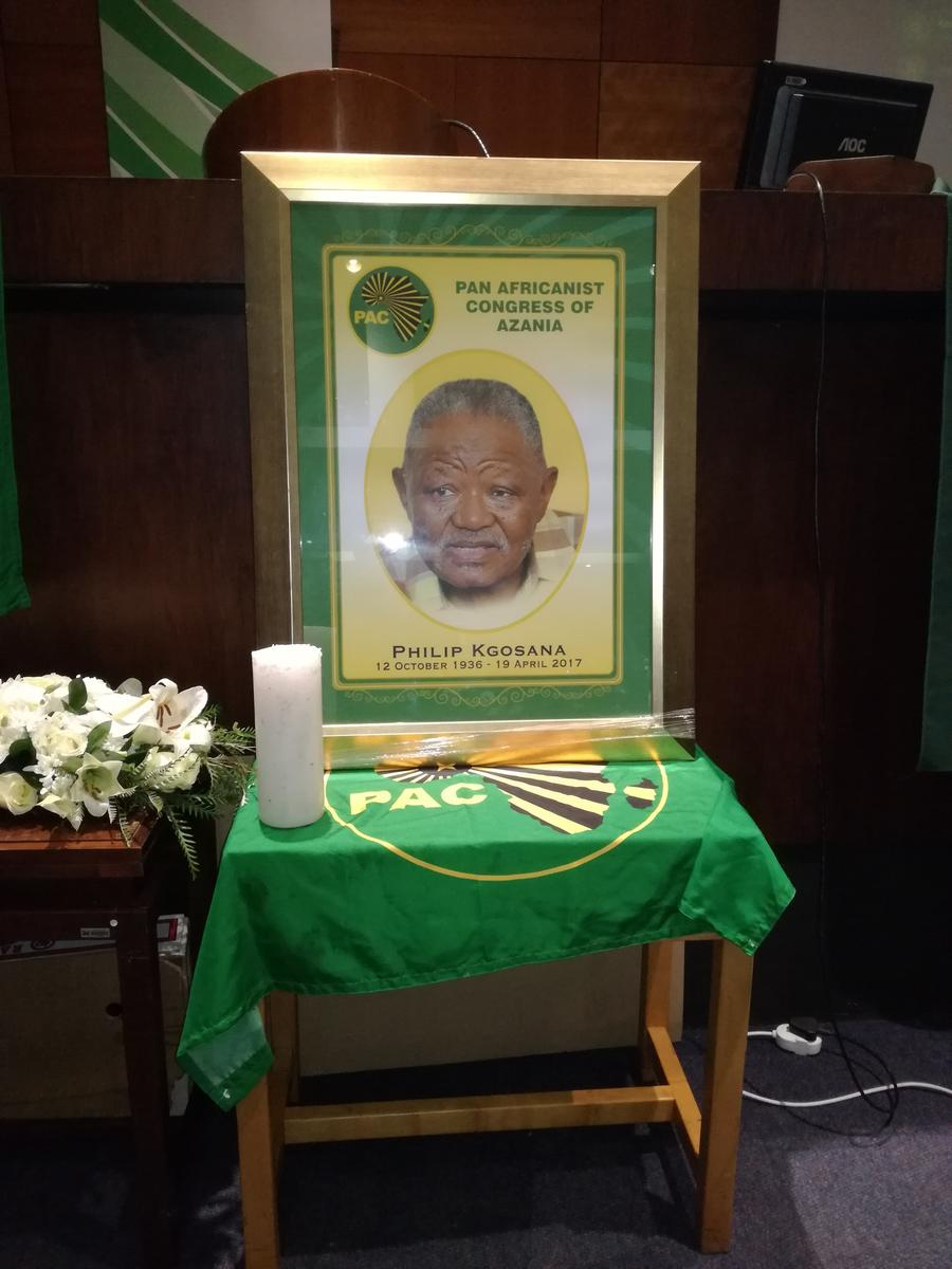 A picture of Philip Kgosana during the memorial service.