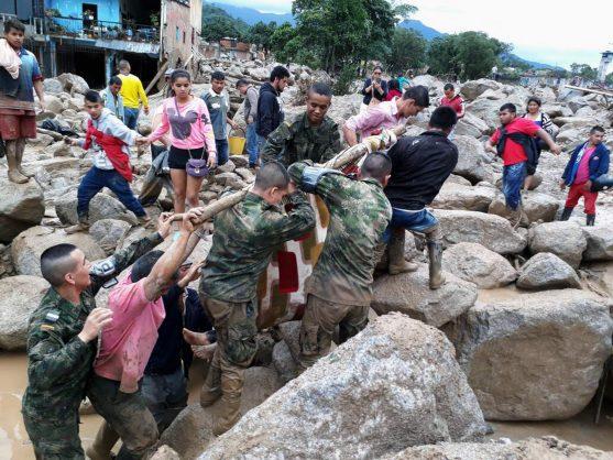 Landslide in Colombia.