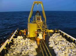Fishing vessels used in marine phosphate operation. Credit: Namibian