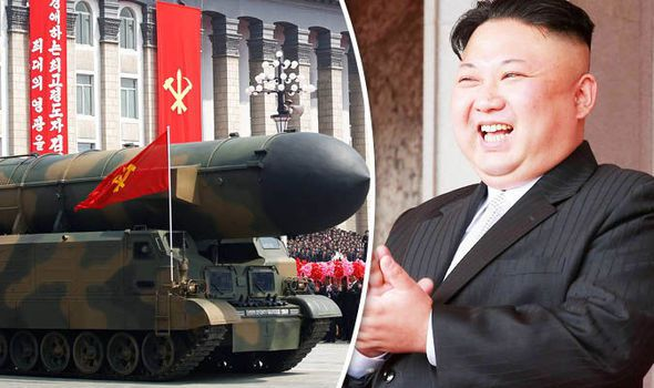 Missile and Kim Jong Un