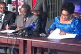 Tsvangirai, Mujuru sign coalition agreement ahead of 2018 elections