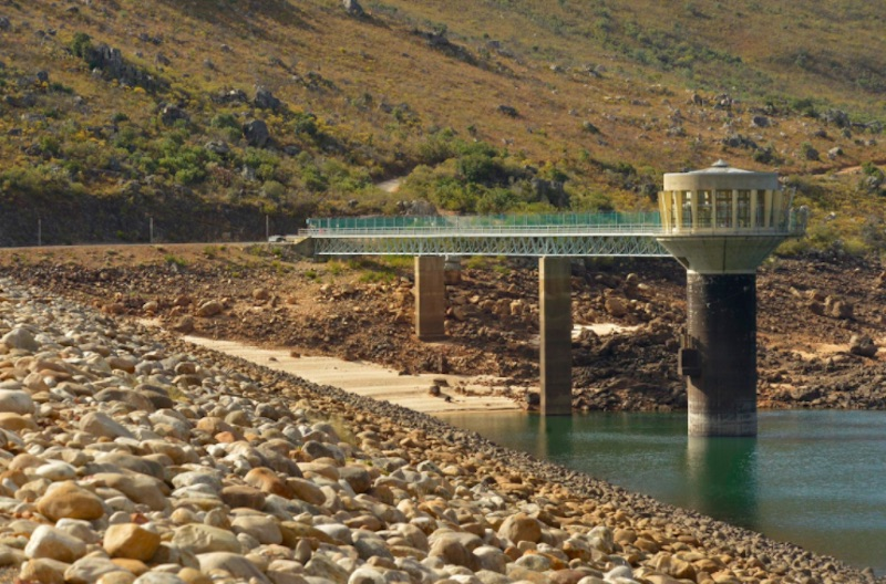 The City of Cape Town tweeted this photograph of the Faure Reservoir as it launches its pilot project in a bid to help lower water use. Picture: City of Cape Town on Twitter