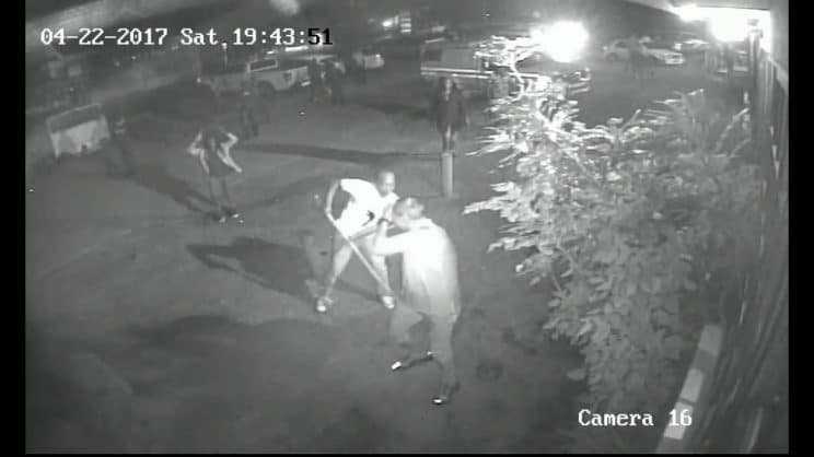 Screen grab of the fight. Picture Middelburg Observer