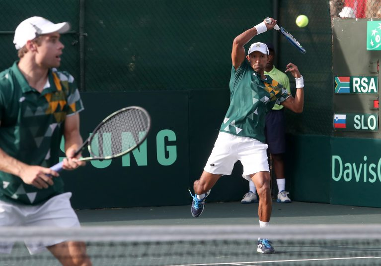 Raven Klaasen and Ruan Roelofse clinched the Davis Cup tie for South Africa. Photo: Reg Caldecott/Gallo Images.