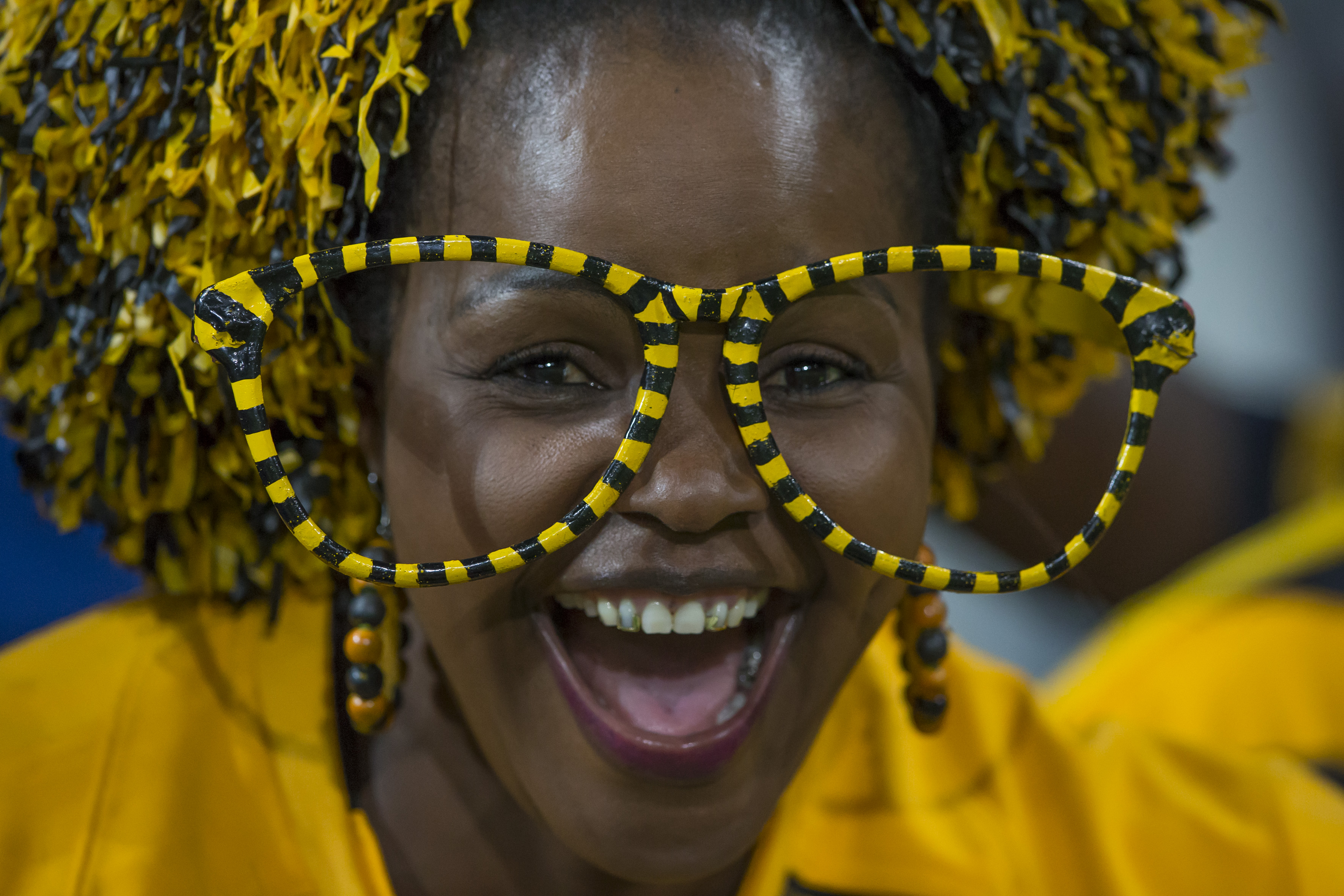 NELSPRUIT, SOUTH AFRICA - APRIL 15: Kaizer Chiefs Supporter during the Absa Premiership match between Kaizer Chiefs and Chippa United at Mbombela Stadium on April 15, 2017 in Nelspruit, South Africa. (Photo by Dirk Kotze/Gallo Images)