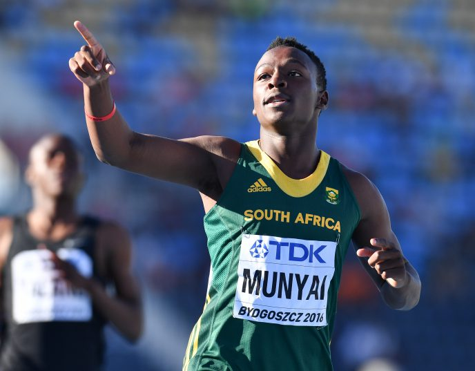 Clarence Munyai will defend his national 200m title. Photo: Roger Sedres/Gallo Images.