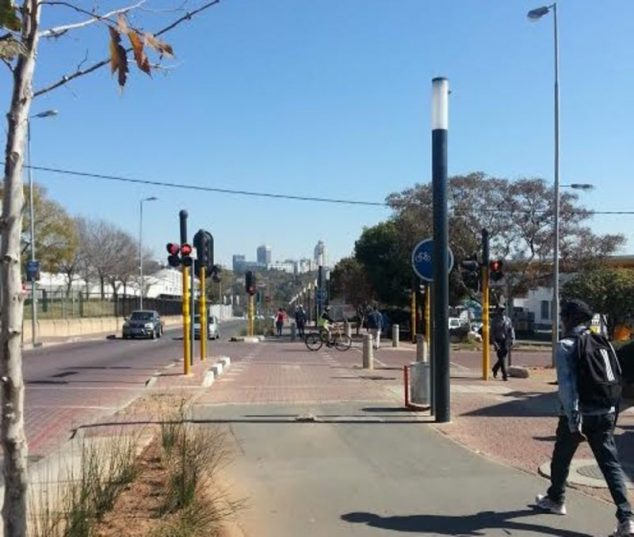 A largely unused cycle lane between Sandton and Alexandra in Johannesburg. Picture: Njogu Morgan