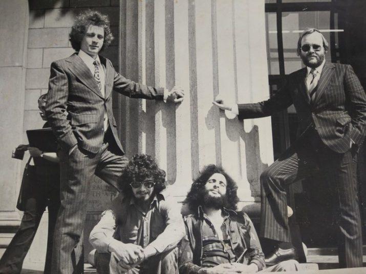 Apartheid spy Craig Williamson (far right). Supplied.