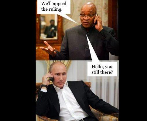 Jacob Zuma meme about the nuclear deal.