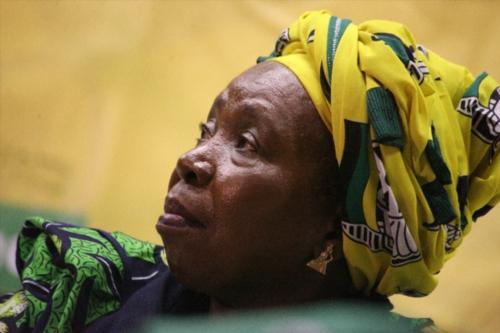 DURBAN, SOUTH AFRICA – APRIL 20: Nkosazana Dlamini-Zuma addresses the ANC Youth League members and students at the Durban University of Technology (DUT) on April 20, 2017 in Durban, South Africa. Dlamini-Zuma addressed DUT students and ANCYL members on issues of free education. (Photo by Gallo Images / City Press / Siyanda Mayeza)