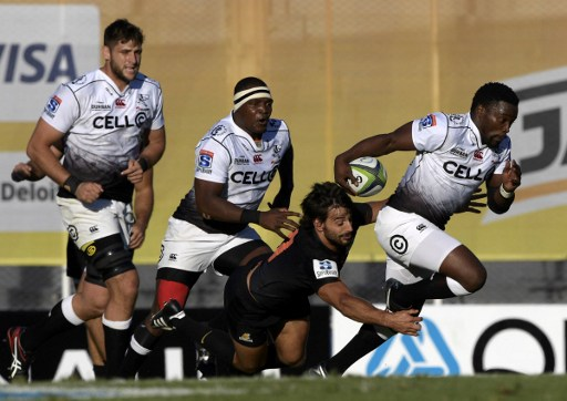Lwazi Mvovo on the attack in Buenos Aires. Photo: Juan Mabromaya/AFP.