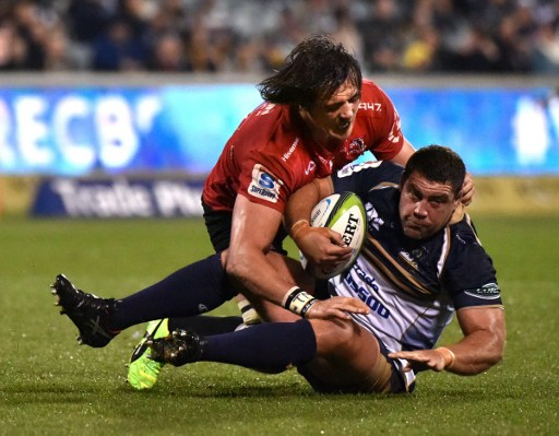 Lions lock Franco Mostert was a monster on defence. Photo: Mark Graham/AFP.