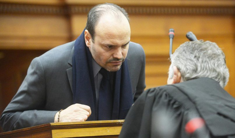 Guatemalan murder accused Diego Novella on day four of his trial. He is accused of murdering his American girlfriend Gabriela Kabrins Alban in 2015. PHOTO: COURTNEY AFRICA/ANA