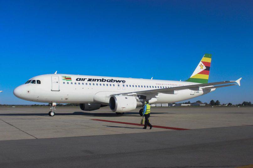 An Air Zimbabwe Airbus A320 at Harare International Airport. Picture: ANA