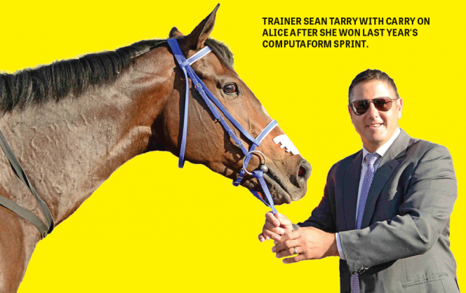 TARRY: CHAMPION TRAINER CAN NOTCH A 1-2 IN SA'S PREMIER TEST OF SPEED