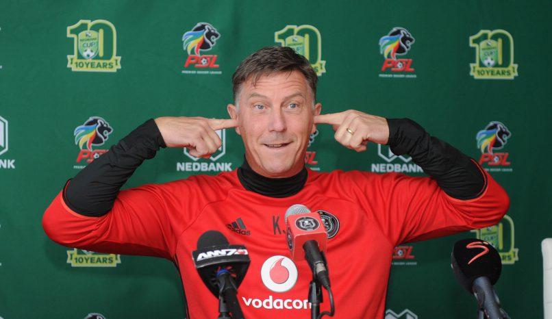 Kjell Jonevrett coach  of Orlando Pirates (Sydney Mahlangu /BackpagePix)