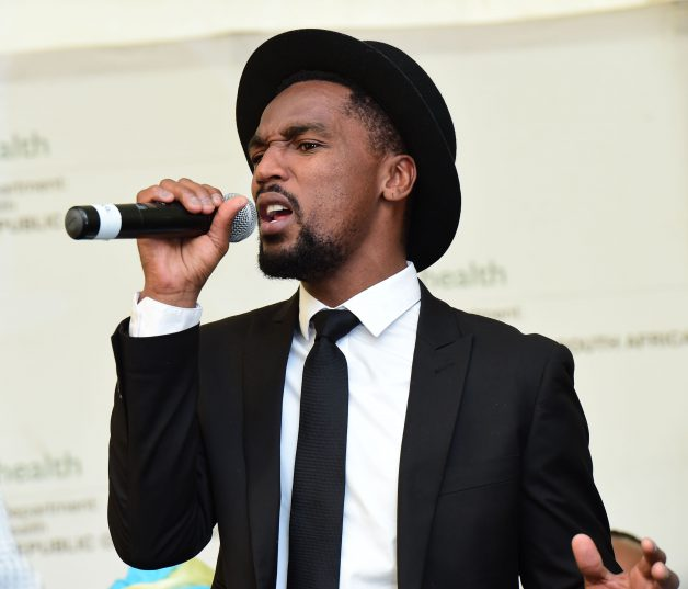 JOHANNESBURG, SOUTH AFRICA – APRIL 06: Musician; Nathi Mankayi performs during the official launch of The Goodlife Network at the Alexandra clinic on April 06, 2016 in Johannesburg, South Africa. Mankayi popularly known for the Nomvula hit, says music helped him overcome life's obstacles. (Photo by Gallo Images / Daily Sun / Noko Mashilo)
