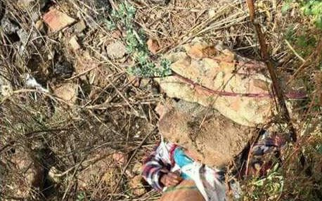 The top half of the photo showing the body of a woman murdered in Naledi, Soweto. PHOTO: Twitter.