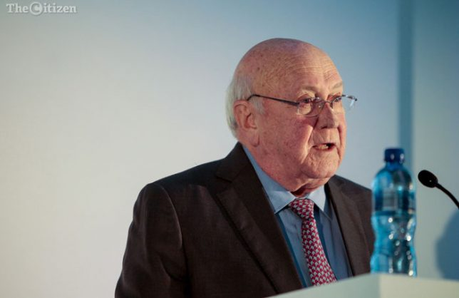 Former President F.W. de Klerk, addresses the National Foundations Dialogue Initiative in Braamfontein, Gauteng. The summit aims at fostering social and political discourse between civil society and NGO's. 5 May 2017. Picture: Yeshiel Panchia