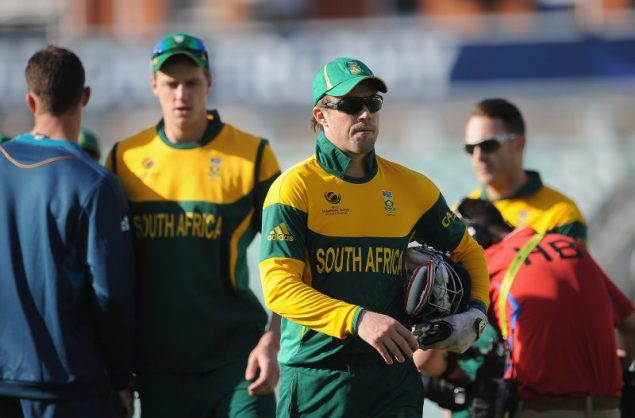 Proteas skipper AB de Villiers knows three Champions Trophy failures. Photo: Christopher Lee/Getty Images.