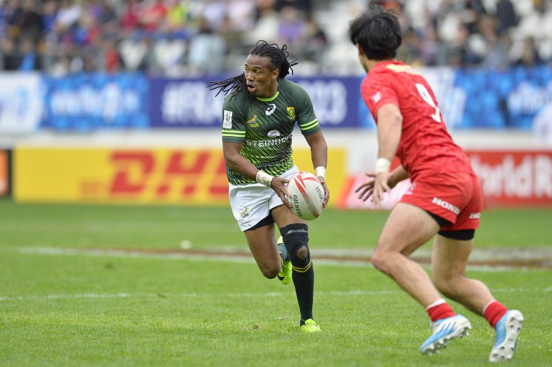 Cecil Afrika continues to be an excellent playmaker for the Blitzboks. Photo: Aurelien Meunier/Getty Images.