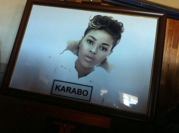The image displayed of Karabo Mokoena at a memorial service. Image: Thabang Buthelezi