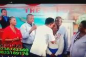 WATCH: Yes, Lord! says interpreter as pastor kisses woman in church
