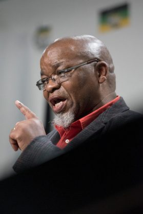 Secretary General of the ANC Gwede Mantashe speaks to the media during a press conference at Albert Luthuli House in Johannesburg on 29 May 2017. The conference comes after a weekend meeting of the NEC in which the possible recall of President Jacob Zuma was discussed. Picture: Yeshiel Panchia
