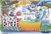 Ghost cartoon: Zupta in Wonderland