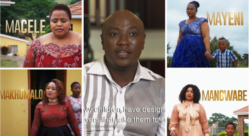 Musa Mseleku and his four wives. Picture: Mzansi Magic Twitter