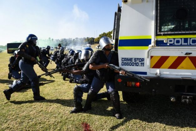 Members of the SAPS. Picture: Jacques Nelles