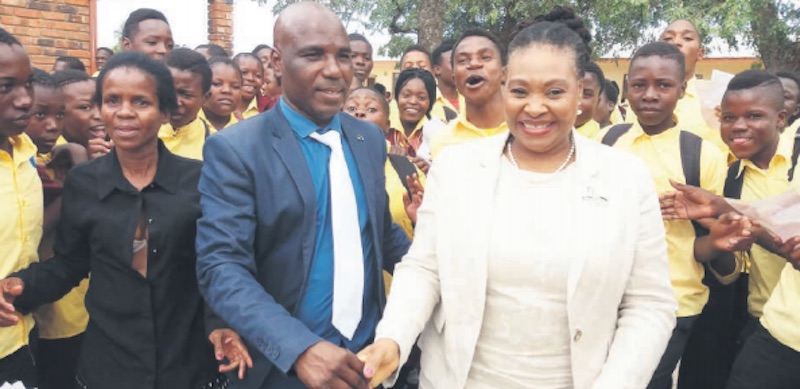 PREVENTION. Yvonne Chaka Chaka during a malaria awareness outreach programme . Picture: Alex Matlala