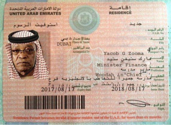 Pic 'arab zuma gets his dubai id the citizen