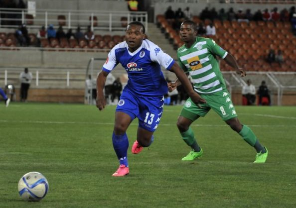 Thuso Phala of SuperSport United during the Absa Premiership match between SuperSport United and Bloemfontein Celtic.(Photo by Phillip Maeta/Gallo Images)