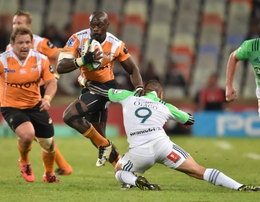 Cheetahs wing Raymond Rhule had another superb outing but his teammates choked badly. Photo: Johan Pretorius/Gallo Images.