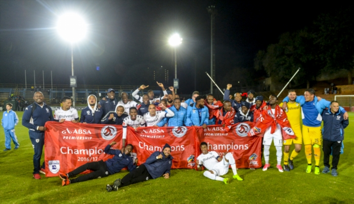Wits are the 2016/17 PSL champions after the Absa Premiership match between Bidvest Wits and Polokwane City at Bidvest Stadium on May 17, 2017 in Johannesburg, South Africa. (Photo by Sydney Seshibedi/Gallo Images)